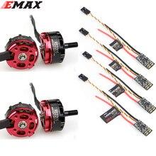 4 adet orijinal EMAX RS2205 2300KV /2600KV fırçasız Motor CCW Motor + yıldırım 30A mini ESC Set RC FPV racer Drone Quadcopter
