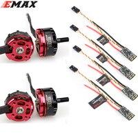 4 pces original emax rs2205 2300kv/2600kv brushless motor ccw + relâmpago 30a mini esc conjunto para rc fpv racer quadcopter