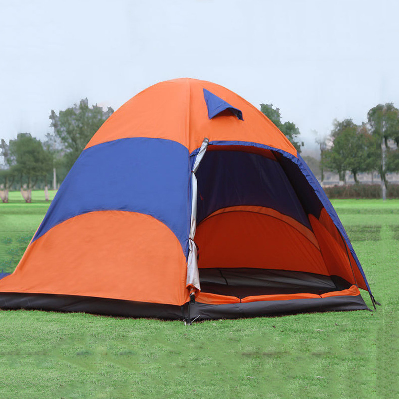 5-8 Person Mongolian Yurt Tent with Mosquito Net Waterproof Folding Separated Double Layer Camping Fishing Summer Beach Tent