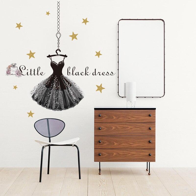 Aliexpress.com : Buy Little Black Dress Wall Stickers Home