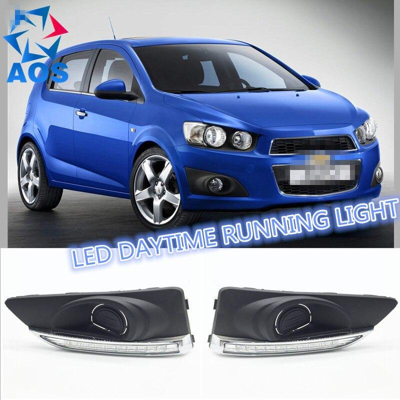 2 Pcs/ensemble car styling Feux de jour led de voiture lumière du jour lampe Pour Chevrolet Aveo Sonic 2012 2013 2014