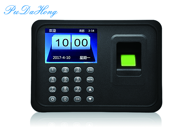 2.4 Inch Biometric Fingerprint Attendance Machine USB Finger Scanner Time Card Locker Free Software Password For Security System