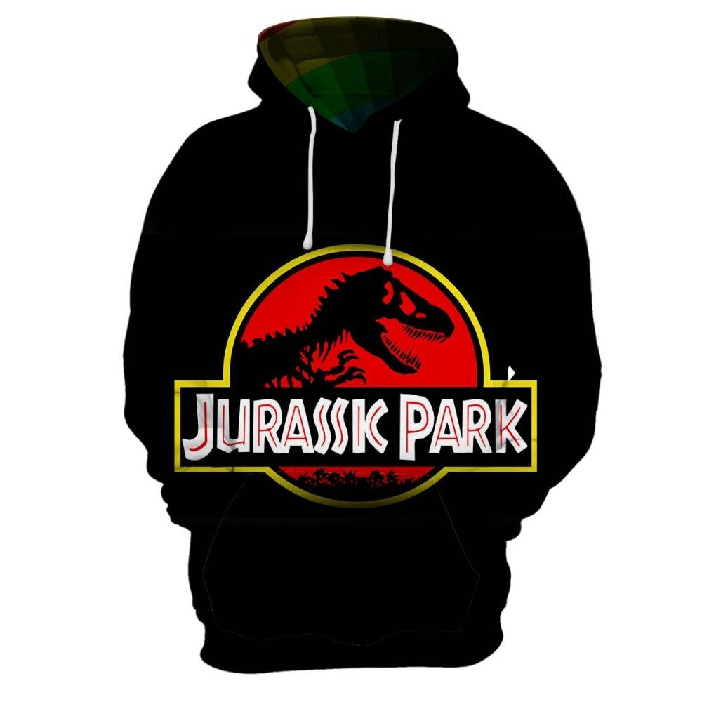 2019 New Movie Jurassic World Fallen Kingdom Dinosaur 3d Print Jacket Men/women Streetwear Boy Autumn Clothes Men's Clothing