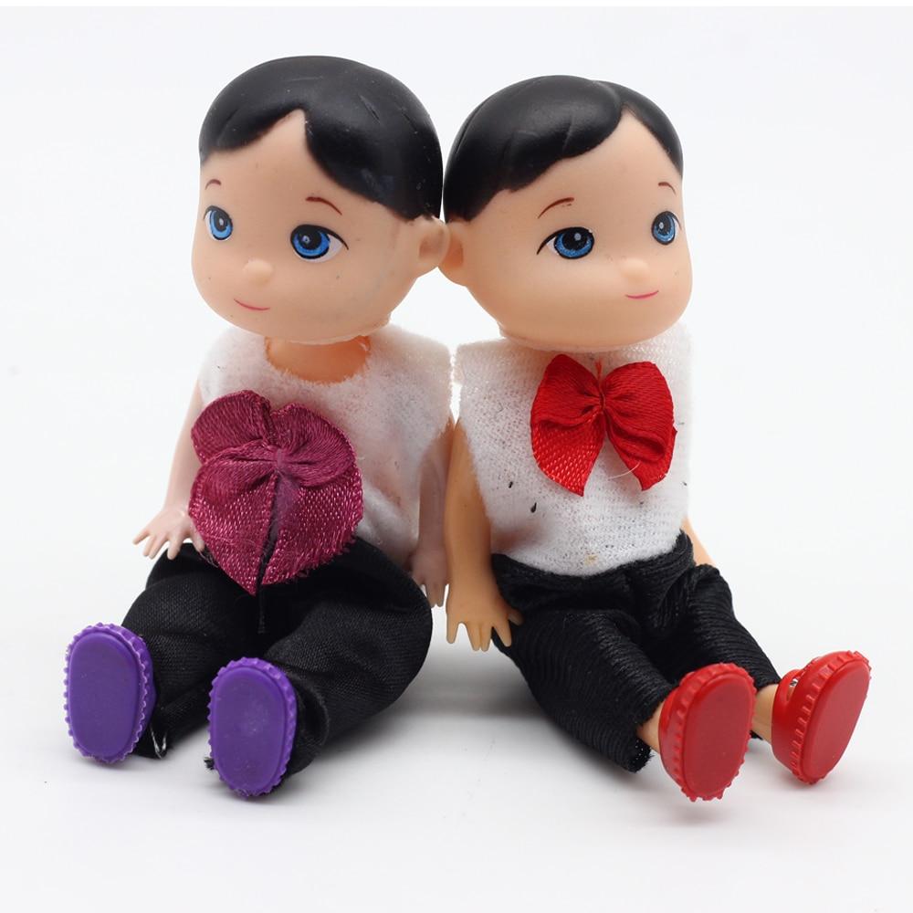 10cm Fashion dolls Toys For Barbie baby boy son dolls Super cute small toys
