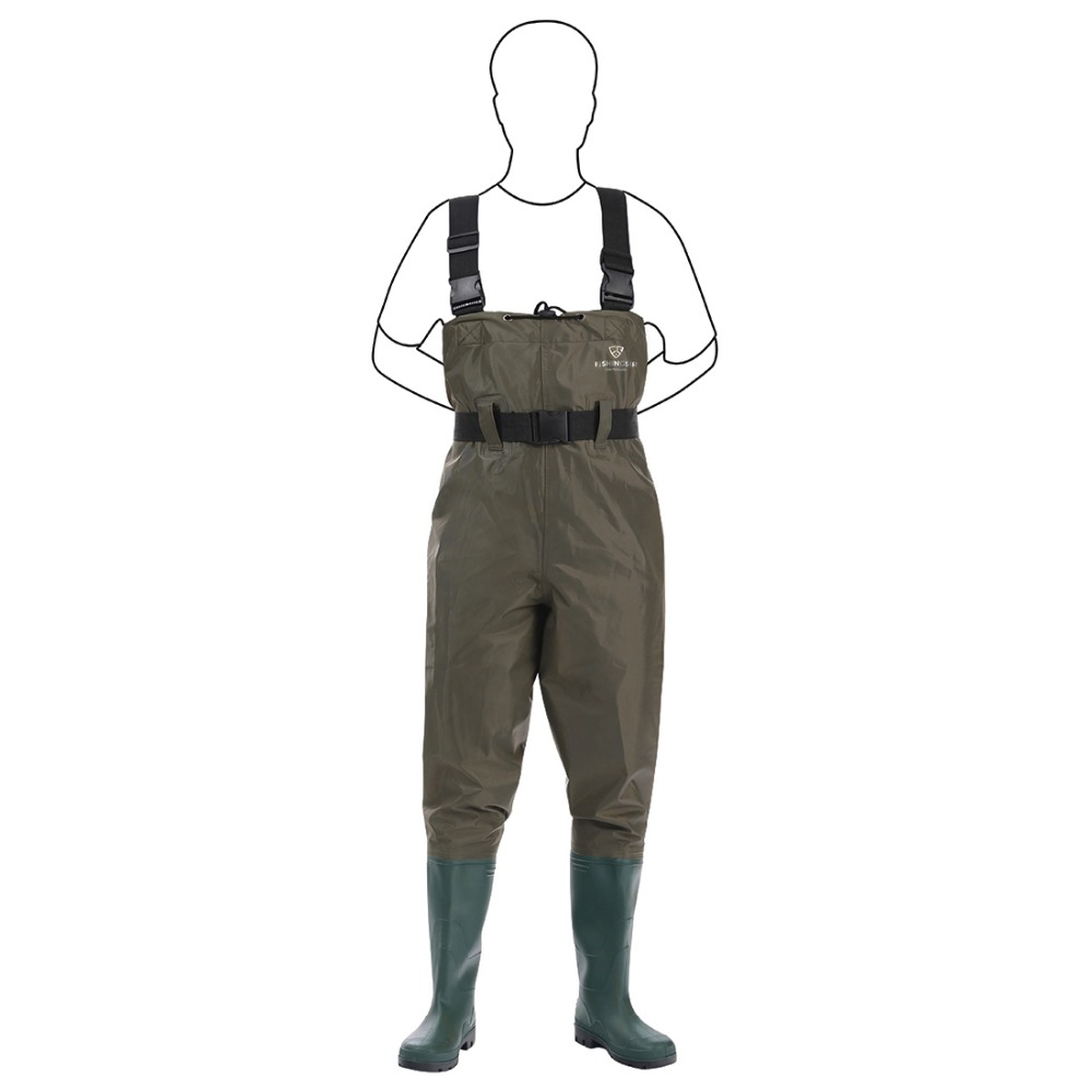 BRAND NEW NYLON FISHING CHEST WADERS WITH BELT FLY CARP SEA FISHING SIZE 9,10,11