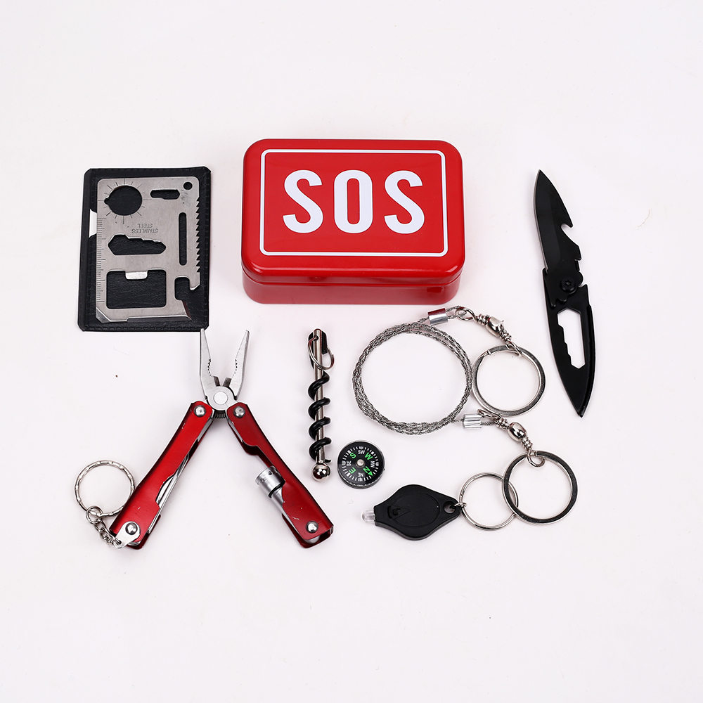Emergency Equipment SOS Kit Car Earthquake Emergency Supplies SOS Outdoor Camping Survival Tool Survival Gear in Safety Survival from Sports Entertainment
