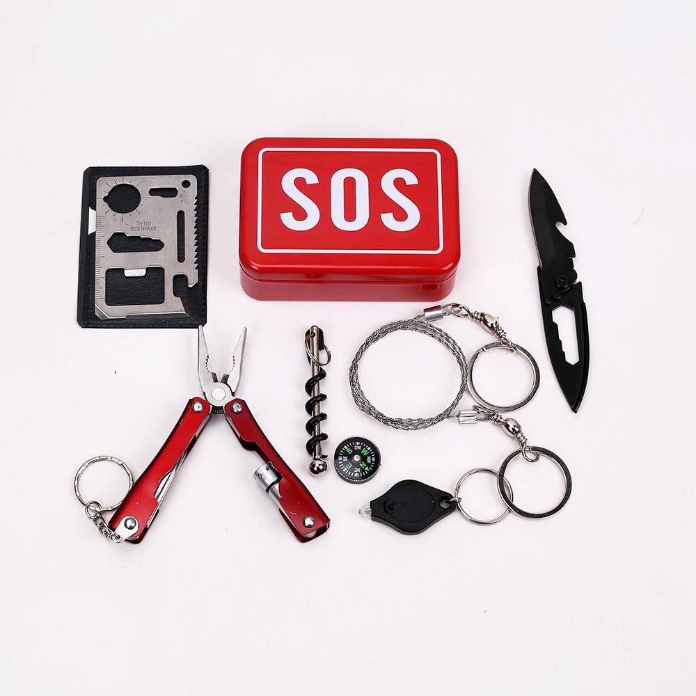 Emergency Equipment SOS Kit Car Earthquake Supplies Outdoor Camping Survival Tool Gear