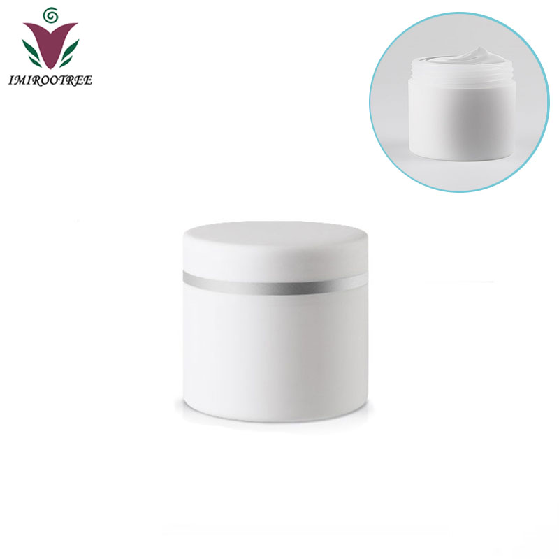 Free Ship 30PCS 30 gram 30g 30ml double wall plastic jar with lid empty cosmetic plastic