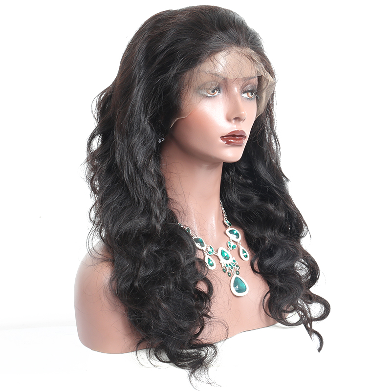 4X4 Silk Base Wigs Full Lace Wigs Human Hair With Baby Hair For Women Brazilian Body Wave Natural Black Pre Plucked Sunny Queen