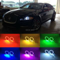 For Jaguar XJ 2011 2012 2013 2014 2015 Excellent Angel Eyes Multi-Color Ultrabright 7 Colors RGB LED Angel Eyes kit