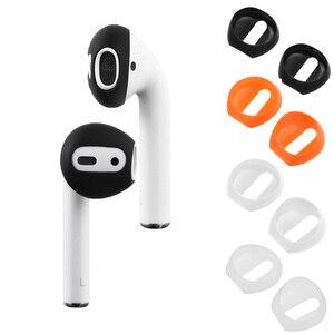 Image 2 - Funda de silicona para auriculares, 2 /1 pares, suave, ultrafina, antideslizante, para Apple, AirPods