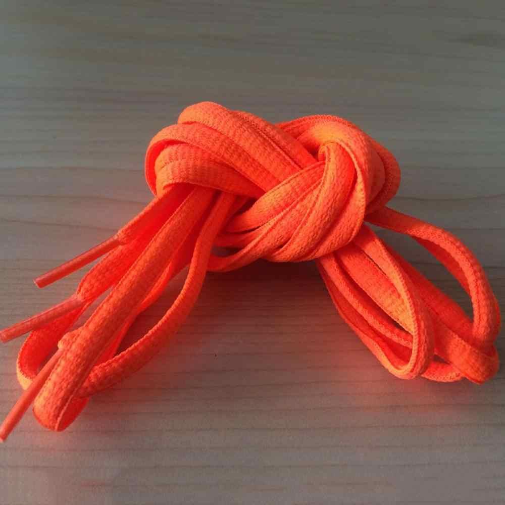 Cadarços atléticos de 130cm fácil de amarrar, 1 par de botas esportivas, cordas de sapatos clássicos, decorações simples