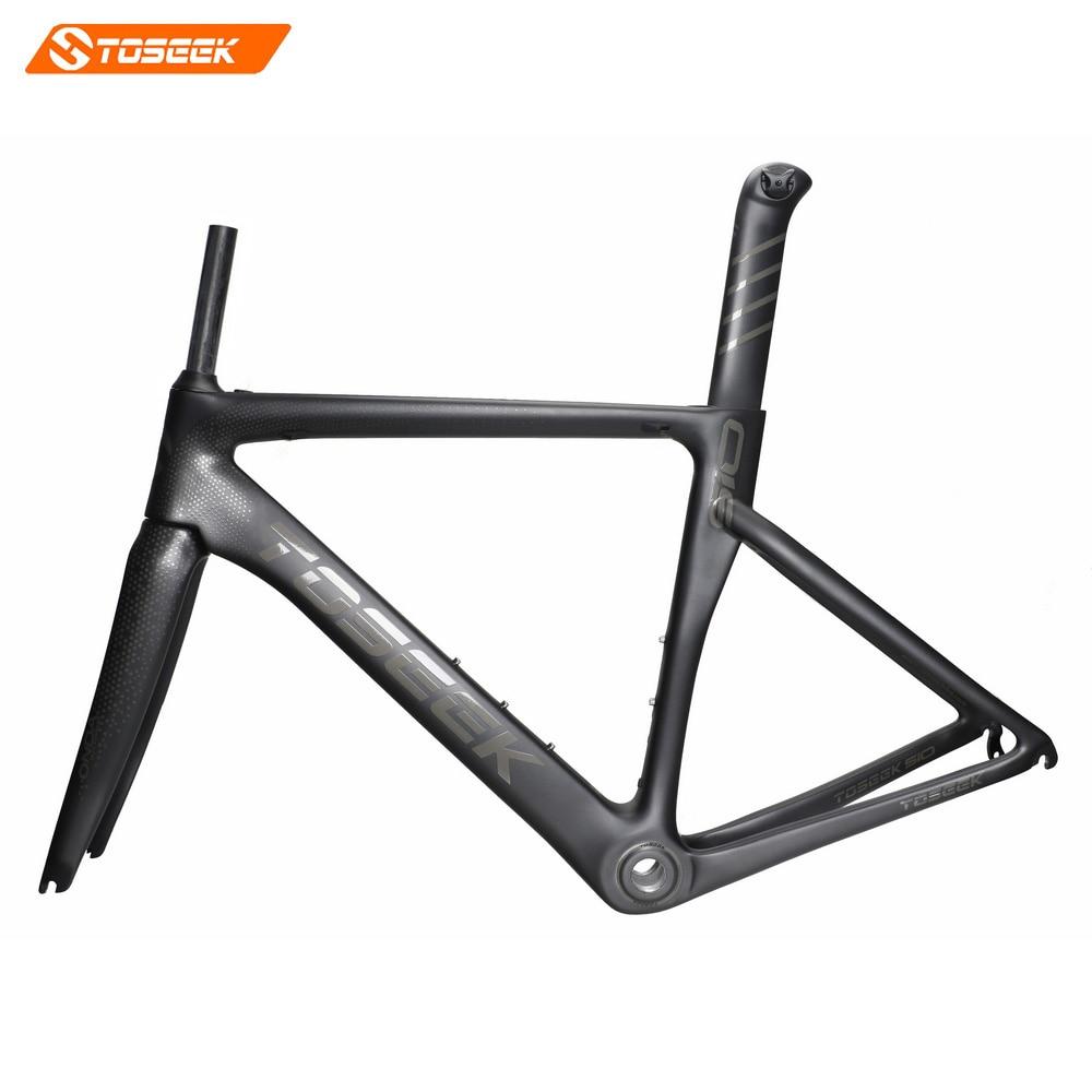 цена на 2018 NEW Toseek Carbon Fiber Road Frame Mechanical Racing Bike Carbon Road Frame+fork+seatpost+headset Carbon Road Bike Frame