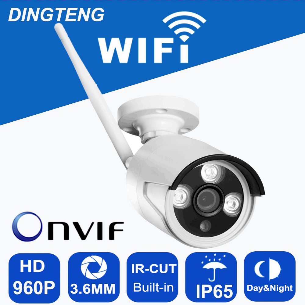 Onvif IP camera WIFI Megapixel 960p HD Outdoor Wireless Digital Security CCTV IP Cam IR Infrared SD Card Slot P2P Bullet Kamera camera wifi megapixel 720p hd outdoor wireless security cctv ip cam ir infrared sd card slot p2p bullet camera waterproof