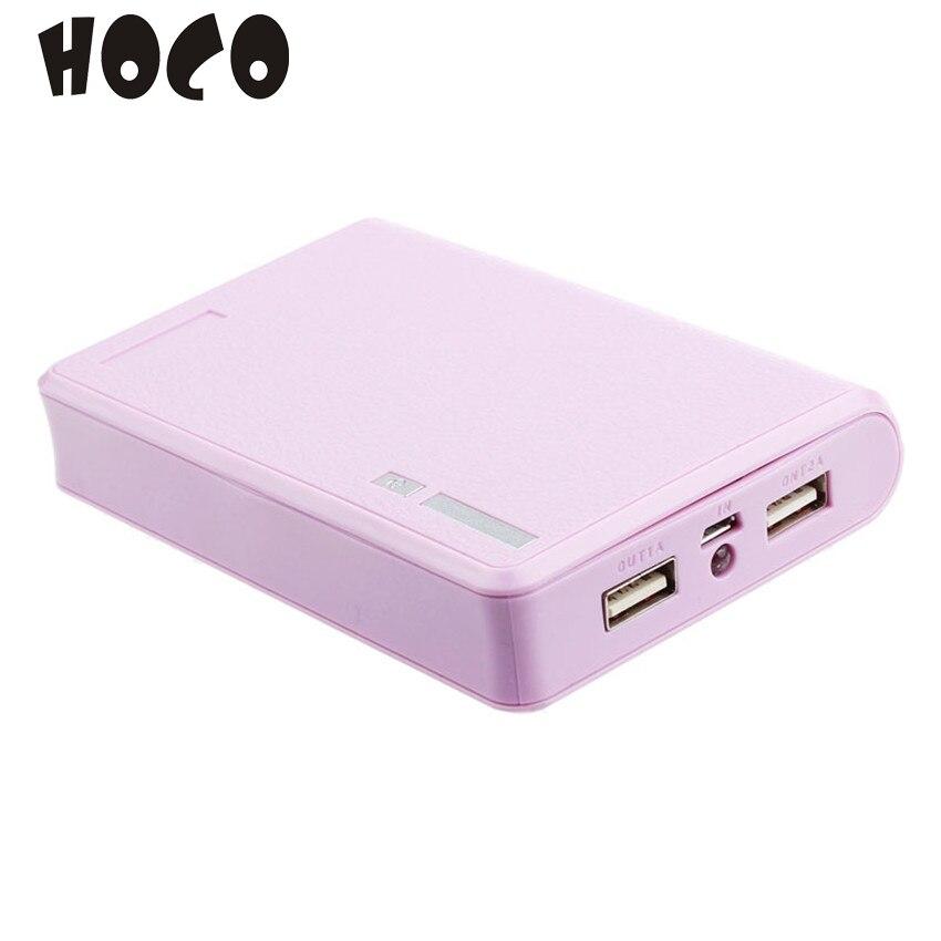 Usb 5 v 2a 18650 cargador de caja de batería del banco de potencia para smartpho