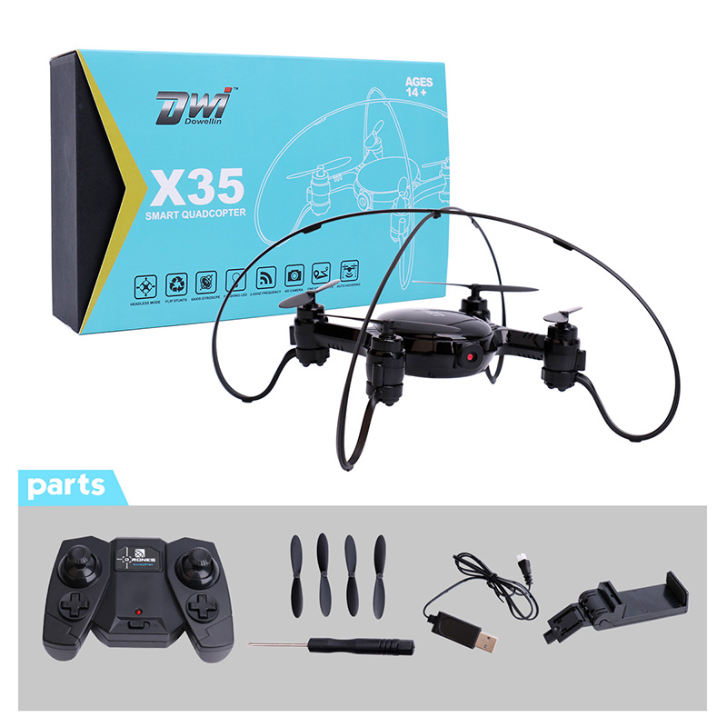 RC Quadcopter Mini Drone with Camera 0.3MP 480P WiFi FPV Drone Dron Selfie Drone Altitude Hold Auto Hover RC Helicopter X35