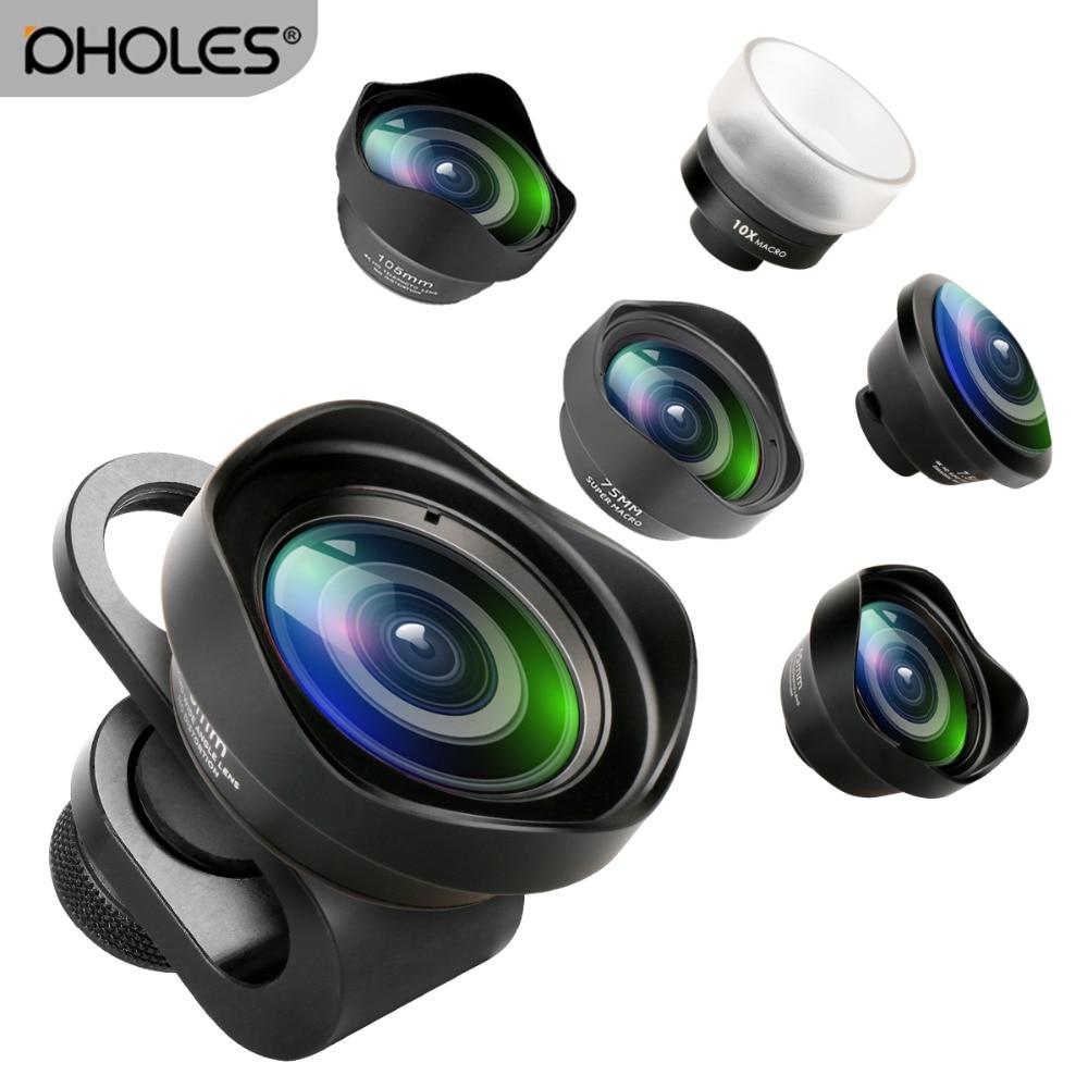 Pholes Weitwinkel Fisheye Makro Telefon Objektiv 2X Tele Mobile Objektiv Zoom Kamera Linsen für iPhoneX 8 Huawei P20Pro Samsung s8 S9