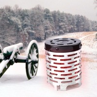 Outdoor Camping Hiking Winter Portable Metal Heater Stainless Steel Warmer Heating Cover Hiking Travel Tool