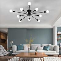 Smuxi Retro Industrial Iron 220V E27 LED Ceiling Lamp Edison Bulb Living Room Bedroom Pendant Light Home Lighting