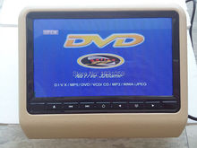 To Russia 2pcs/set (AV+DVD) 9inch headrest dvd monitor player with FM/IR/USB/SD/MP5/ 32 big Wireless game/remote control