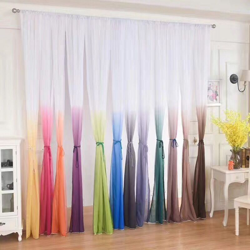 tulle curtains 3d printed kitchen decorations window treatments american living room divider sheer voile curtain single