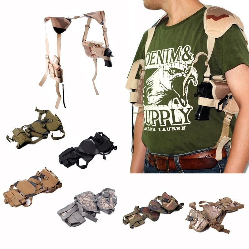 Tactical Ambidextrous Shoulder Holster with Magazine Pouches