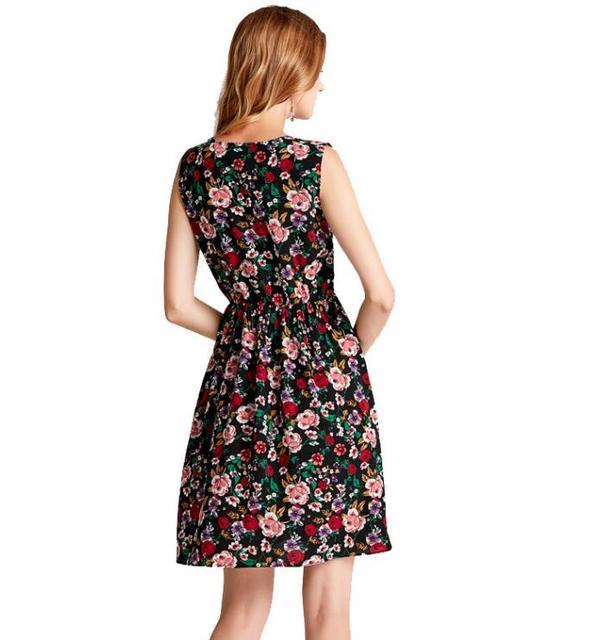 Elegant Vintage Floral Dress