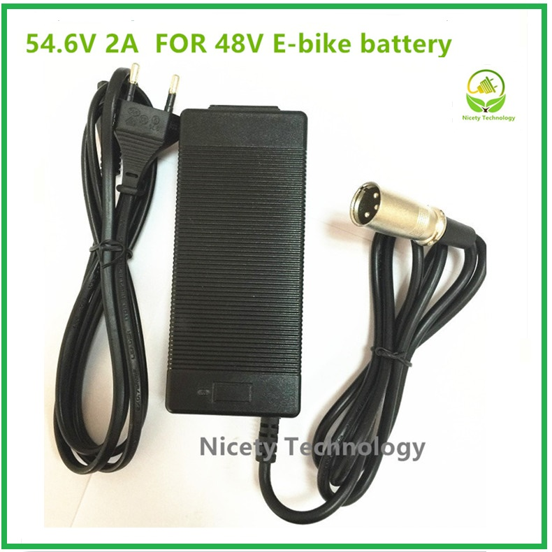 54.6V2A charger 54.6v 2A electric bike lithium battery charger for 48V lithium battery pack XLRM Plug 54.6V2A charger new high quality 29 4v 2a electric bike lithium battery charger for 24v 2a lithium battery pack rca plug connector charger