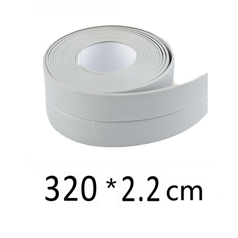 Decorative Caulk Strip Self-Adhesive Sealing Tape Anti-Mildew Waterproof Edge Protector For Bath Shower Floor Kitchen Stove Sink image