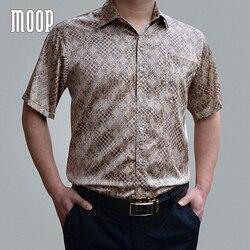 Американский стиль, 5 цветов, мужские летние 100% шелковые деловые рубашки с коротким рукавом, рубашка с принтом, chemise homm camiseta masculina LT1452