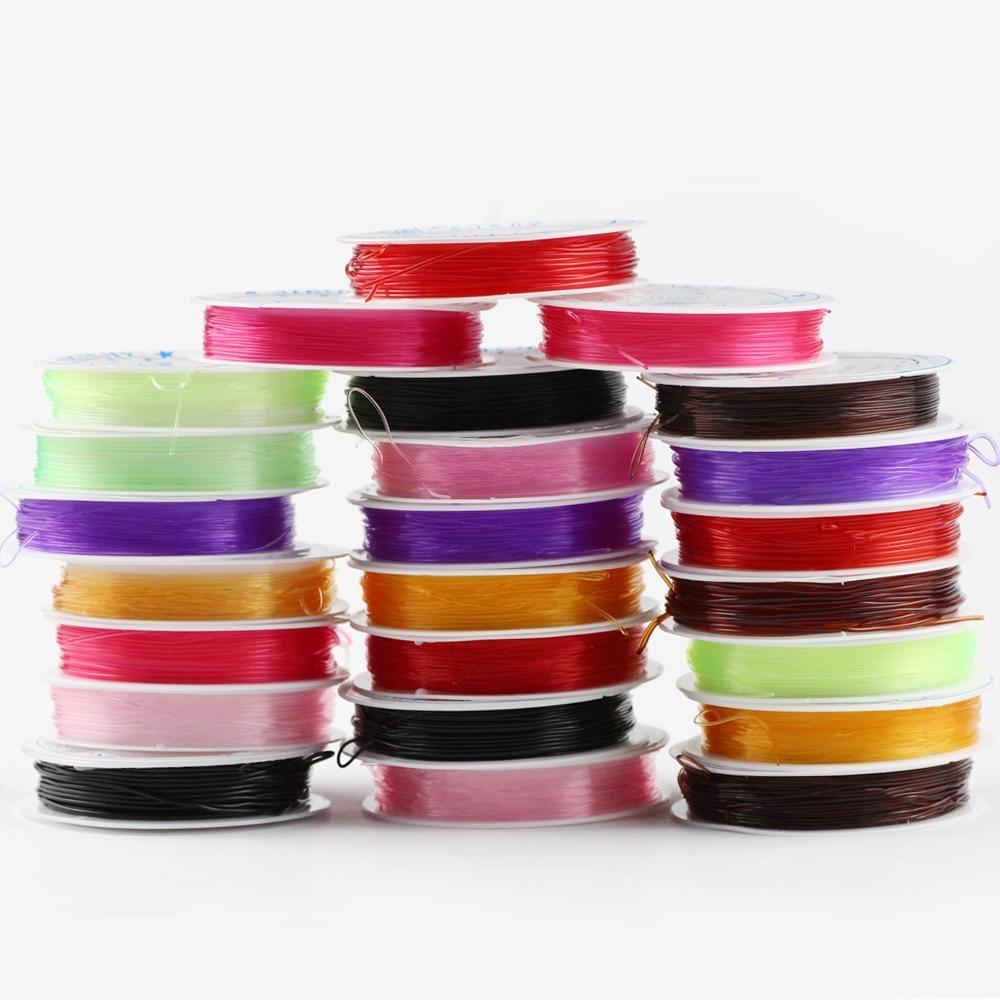 JHNBY renkli şeffaf kristal elastik boncuk halat kordon konu dize DIY kolye bilezik takı yapımı bulguları