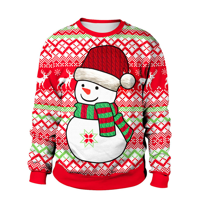 Uniseks Kersttrui.Kerst Trui 3d Unisex Men Women Ugly Christmas Sweater Vacation Santa