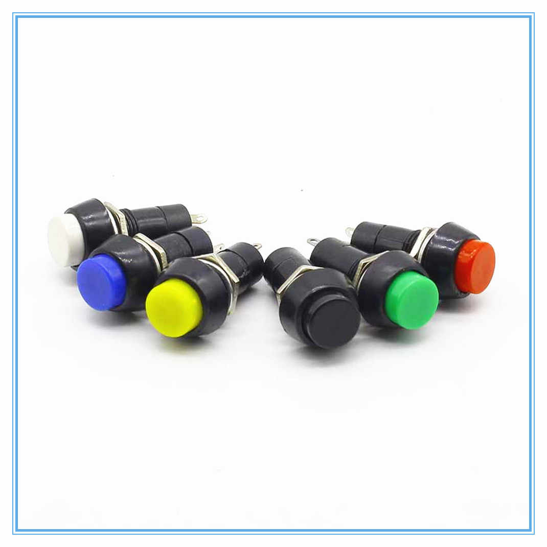 12mm Kunststoff Push Button Switch selbsthemmung/Momentary Switchs 3A 150 V PBS-11A PBS-11B 2PIN