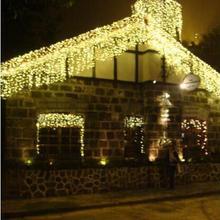 Год! LED Рождество свет гирлянды Свадебные украшения AC 110-220 В 10X0.65 м LED Рождество огней Cortina De LED занавес огни