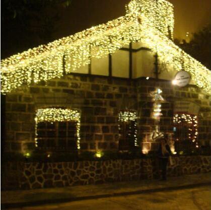 Nieuwjaar! Led Kerstverlichting Slingers Bruiloft Decoratie Ac 110-220 V 10x0.65 M Led Cristmas Lichten Cortina De Led Gordijn Lichten Volume Groot