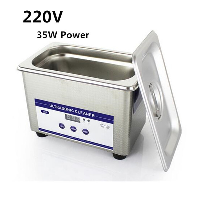 0.8L Digital Ultrasonic Cleaner Sus304 Ultrasonic Cleaner 35W 40khz  220V Jewelry Eyeglasses Watch Cleaning Machine