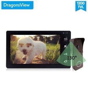 Image 3 - Dragonsview görüntülü interkom kapı telefonu sistemi 7 inç monitör kapı zili kamera ile hareket algılama geniş açı 130 derece kayıt