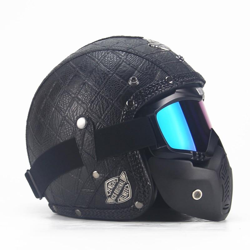 Motocrosshjälm Mask Avtagbar glasögon och munfilter Perfekt för - Motorcykel tillbehör och delar - Foto 2