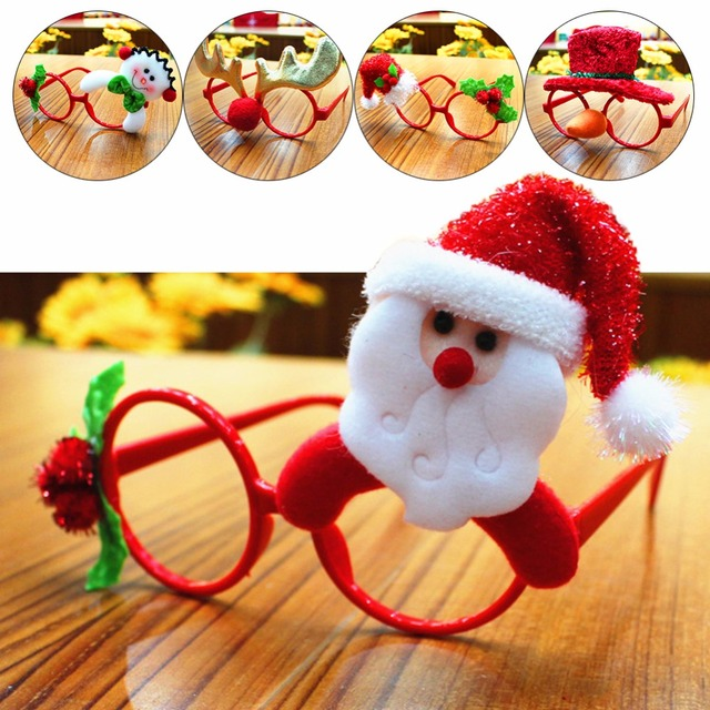 lovely christmas ornaments glasses frames decor evening party toy xmas new year party gifts 254235
