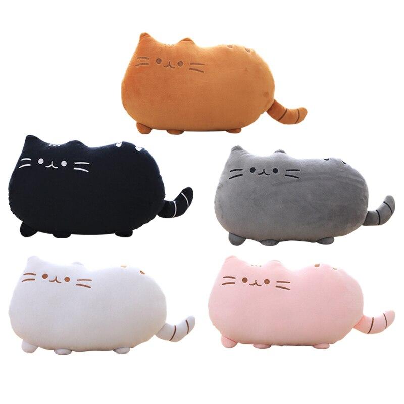 ᗕ40*30 cm juguete Animal gato galletas para niña Kawaii lindo cojín ...
