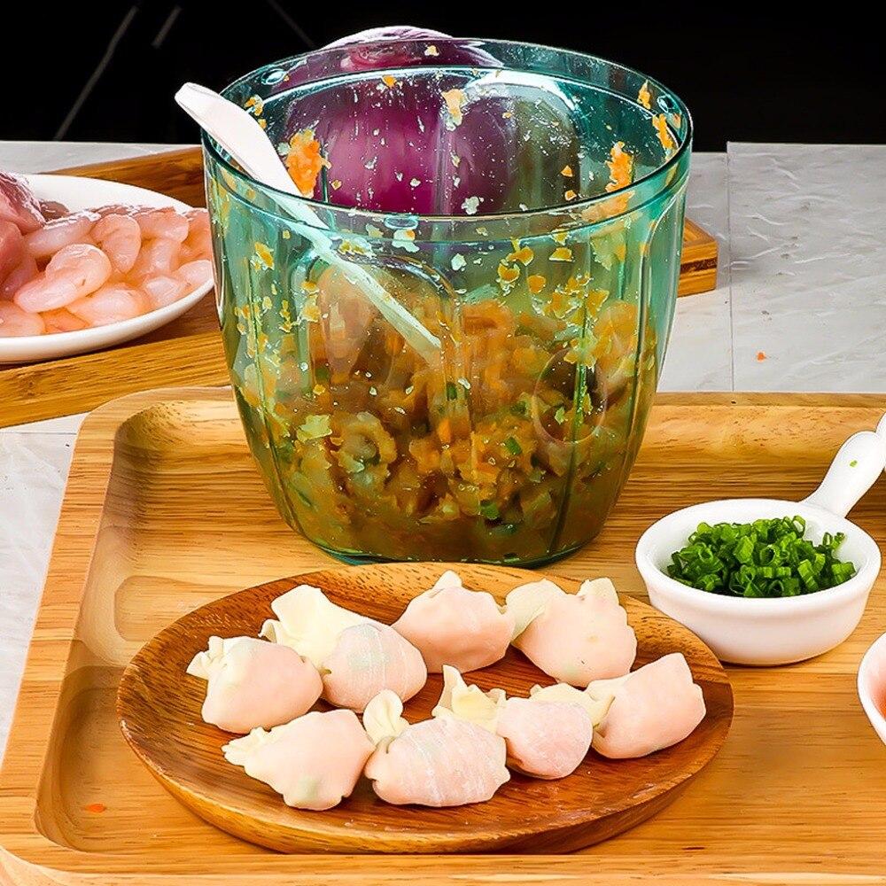 SKYMEN Manual Food Processor Chopper Blender Slicer Safe Free Durable Kitchen Household SKYMEN Manual Food Processor Chopper Blender Slicer Safe Free Durable Kitchen Household