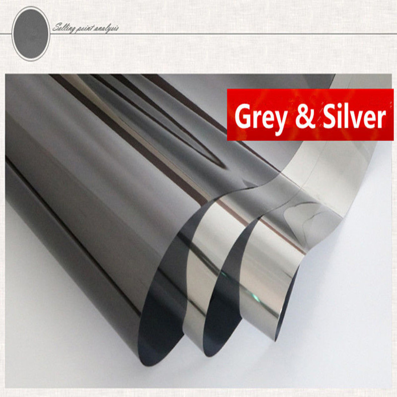 1x10m Grey&Silver Window Tint Film Grey Mirror Reflective Window Film House building Decoration1x10m Grey&Silver Window Tint Film Grey Mirror Reflective Window Film House building Decoration