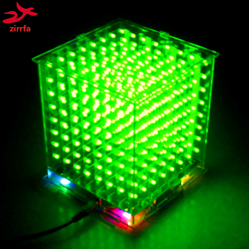 Leory Diy 3d Led Light Cube Kit 16*16 Led Music Spectrum Diy Electronic Kit With Remote Control For Diy Welding Enthusiast Consumer Electronics Audio & Video Replacement Parts