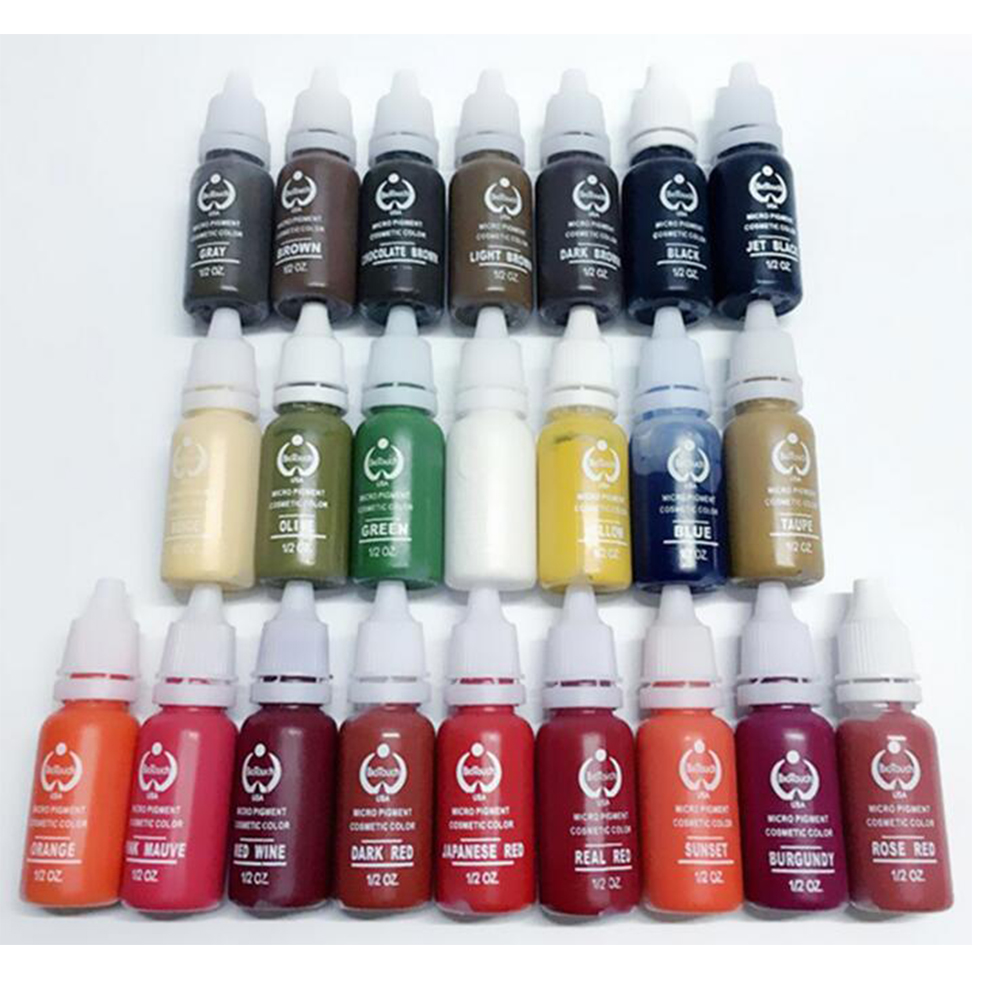 AURELIFE AUREH-212 Tattoo Ink Makeup Tattoo Ink Pigment 15ml/Bottle For Eyebrow Makeup