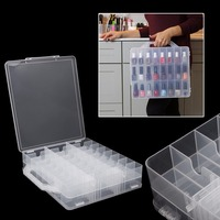 FSHALL New Nail Polish Holder Display Container Organizer Storage Box Case 48 Lattice Pro Showing Shelf