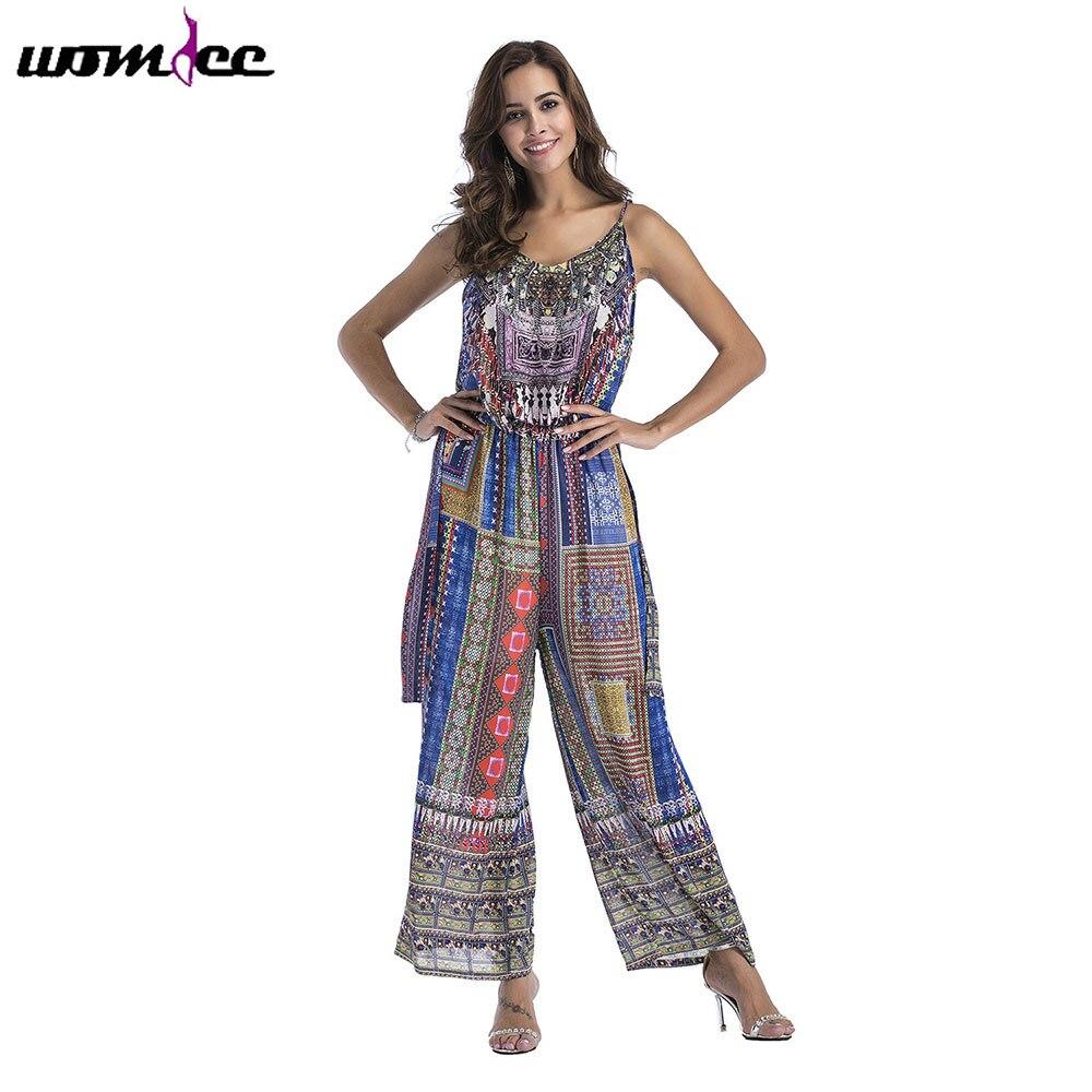 Womens Belt Casual Wide Leg Jumpsuit Ladies Sleeveless Long Playsuit Size 6-16