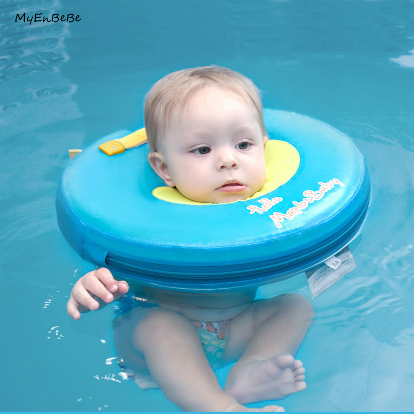 Safer Baby Neck Float Non Inflatable Baby Neck Swim Ring Circle Newborn Swim Trainer Swimming Pool Accessories for 0 12months