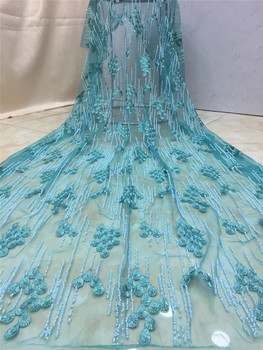 Pretty design luxury JRB-10704 embroidered tulle mesh lace fabric Nice looking beaded african net lace fabric