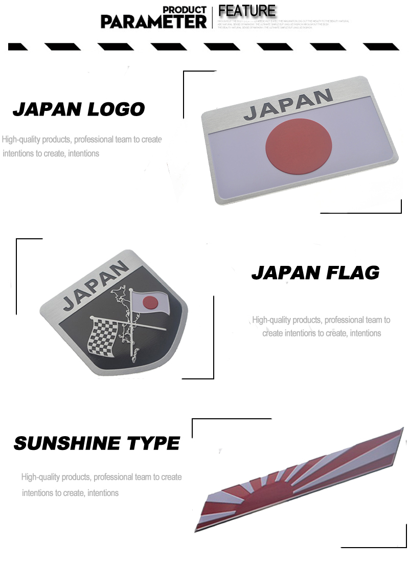 online shop japanese flag car stickers and decals 3d stickers logo