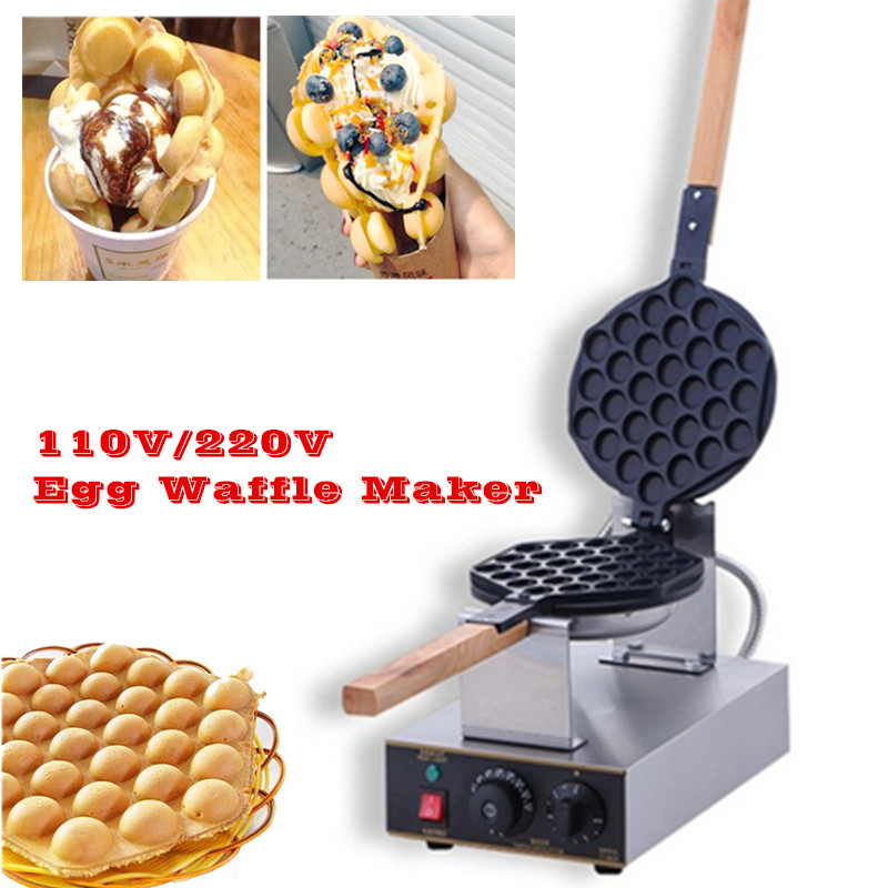 Best Sale Eggette Waffle Machine Egg Waffle Kitchen Appliance Electric Type Egg Puff Waffle Maker Baker nonstick electric egg waffle maker eggette puff machine stainless steel 220v 110v popular snack dessert